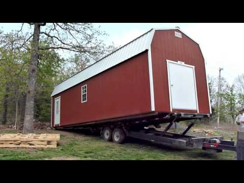 12x36 Cabin Delivery