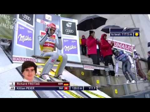 CRASH Richard Freitag -  4/1/2018 Innsbruck (AUT) SKI Jumping