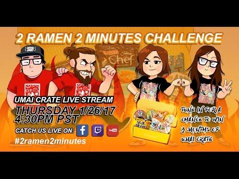 Umai Crate #2ramen2minutes Challenge Live Stream