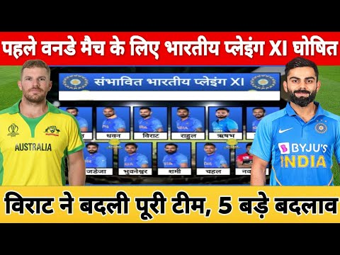 India Vs Australia 1st ODI Match 2020 Playing 11, Preview | Ind Playing Xi Against Aus In 1st ODI