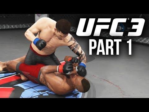EA Sports UFC 3 Career Mode Gameplay Walkthrough Part 1 - FIRST FIGHT & CUSTOMIZATION