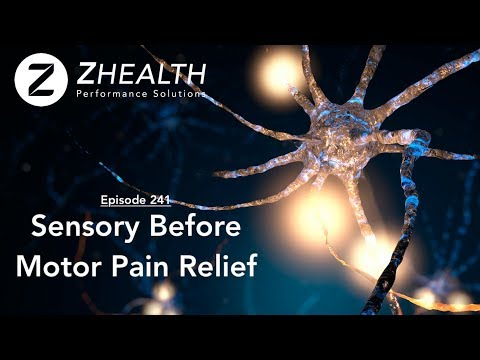 Sensory Before Motor Pain Relief