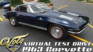 1963 Chevrolet Corvette Virtual Test Drive at Volo Auto Museum (V18950)