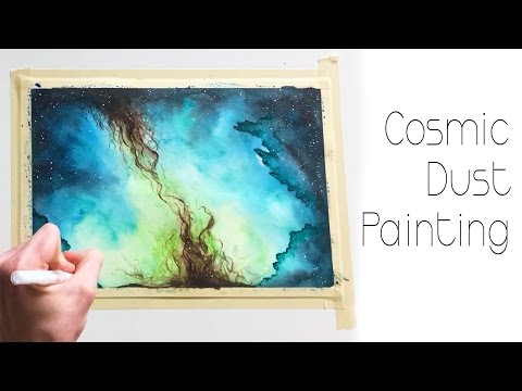 Cosmic Dust Watercolor Painting