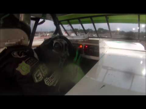 Tyler Sistrunk Motorsports - Volusia Speedway Park - Heat Race In Car Cam - 4-22-2017