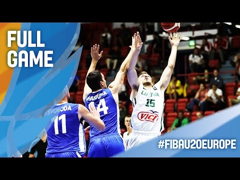 Lithuania v Czech Republic - Full Game - Quarter Final - FIBA U20 European Championship 2016