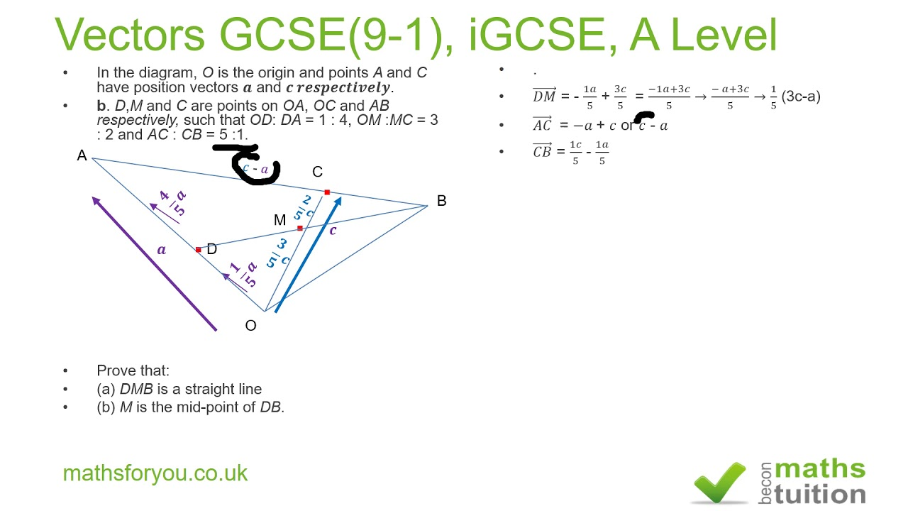 Vectors gcse 9 1 igcse a level youtube vectors gcse 9 1 igcse a level ccuart Choice Image