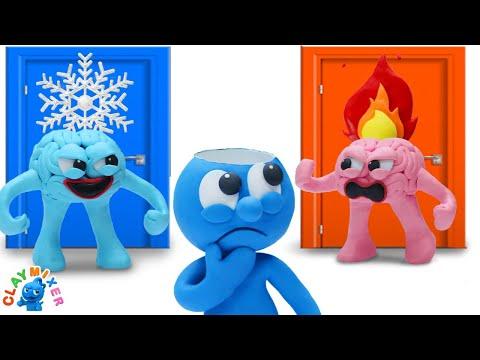 Hot vs Cold Brain - Clay Mixer Animation