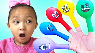 finger family color song | learn color with balloon | Nursery rhymes & Kids song By LoveStar