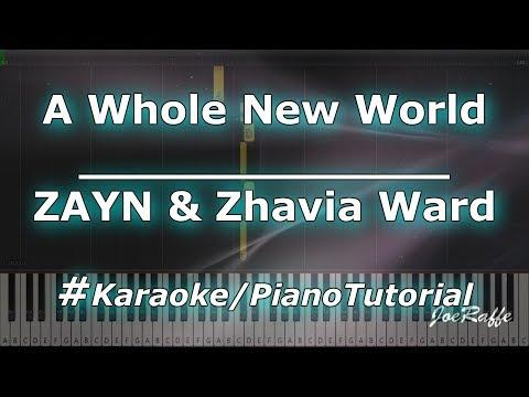ZAYN & Zhavia Ward - A Whole New World KaraokePianoTutorialInstrumental