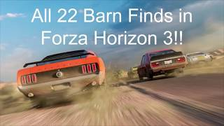 All 22 Barnfind cars and Locations in Forza Horizon 3