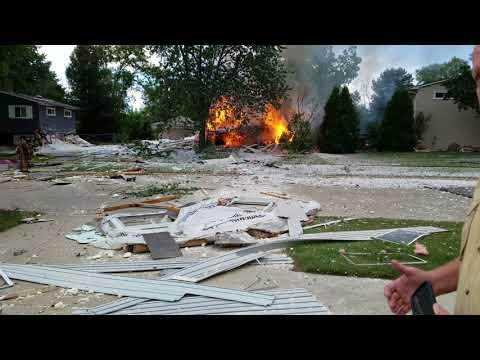 House explosion in Grandwood Park, Gurnee Illinois.