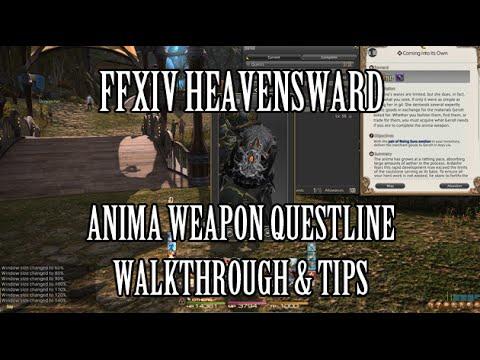 FFXIV Heavensward: Anima Weapon Questline Walkthrough & Tips