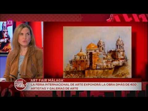 Art Fair Málaga - Entrevista programa 'Llegó la hora' de 101TV 08/02/2017