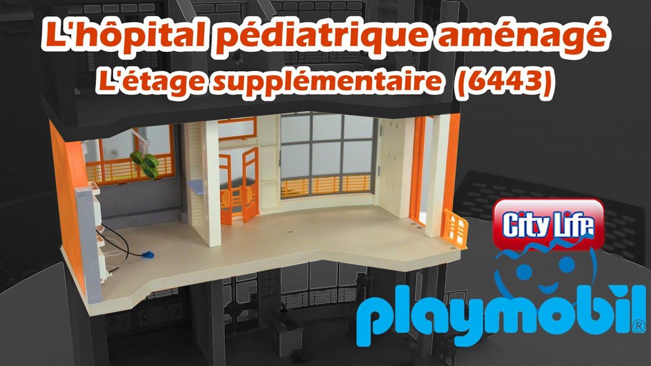 playmobil 6443 l 39 extension 1er tage de l 39 h pital p diatrique youtube. Black Bedroom Furniture Sets. Home Design Ideas