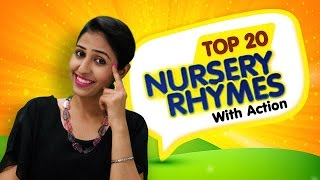 Top 20 Nursery Rhymes Collection | Action Songs Collection For Kids | Nursery Rhymes With Actions