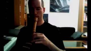 """Den fyrste song"" on the Mollenhauer Modern Alto recorder"