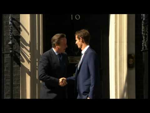 Wimbledon champion Andy Murray meets David Cameron
