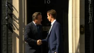 Wimbledon champion Andy Murray meets David Cameron