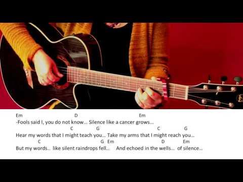 The Sound of Silence - Disturbed /Simon & Garfunkel /Guitar/Tutorial/Cover/Chords/Lyrics/easy