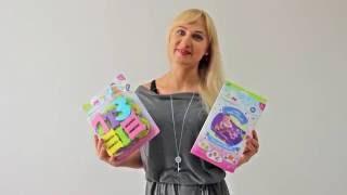 Kinderen ОК АБВ - Алфавит и Цифры для Игры в Ванной, Набор Аква-Пазлов - распаковка и обзор