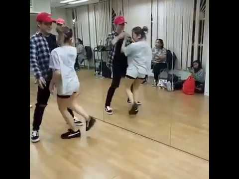 Ella cruz with Julian Trono Rehearsal