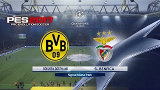 PES 2017 |Champions League Round of 16/2nd Leg| - Dortmund v Benfica