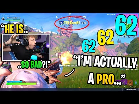 I Thought This Streamer Was The WORST PLAYER EVER Until I Spectated Him In Fortnite... (shocking)
