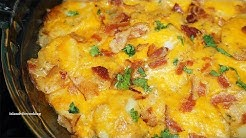 Chessy Cheddar Bacon Scalloped Potatoes Recipe| You gotta try this!!