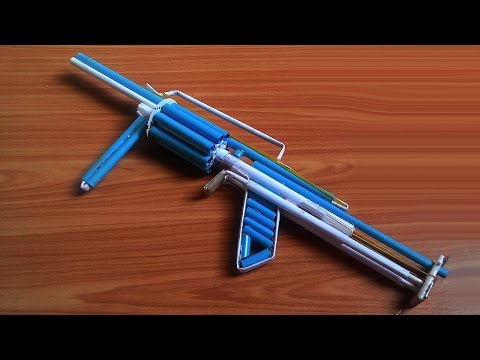 How To Make a Paper Gun that Shoots 8 Bullets (with Trigger) - M32 Paper Gun
