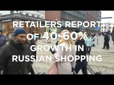 Russian tourism to Finland is now back on track, retail sales soaring
