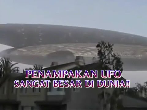"""VIDEO PENAMPAKAN UFO ASLI """"SANGAT BESAR TURUN KE BUMI ..."""