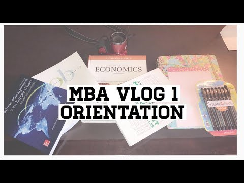 MBA Vlog 1| Law student at Business School Orientation  J.D./MBA