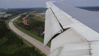 Посадка в Шереметьево Boeing 767-300ER Pegas Fly