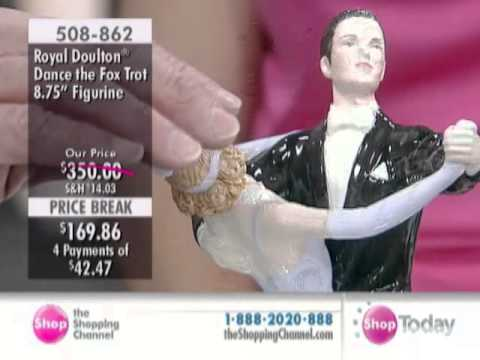 Royal Doulton Ballroom Dancing 'The Fox Trot' Figurine at The Shopping Channel 508862