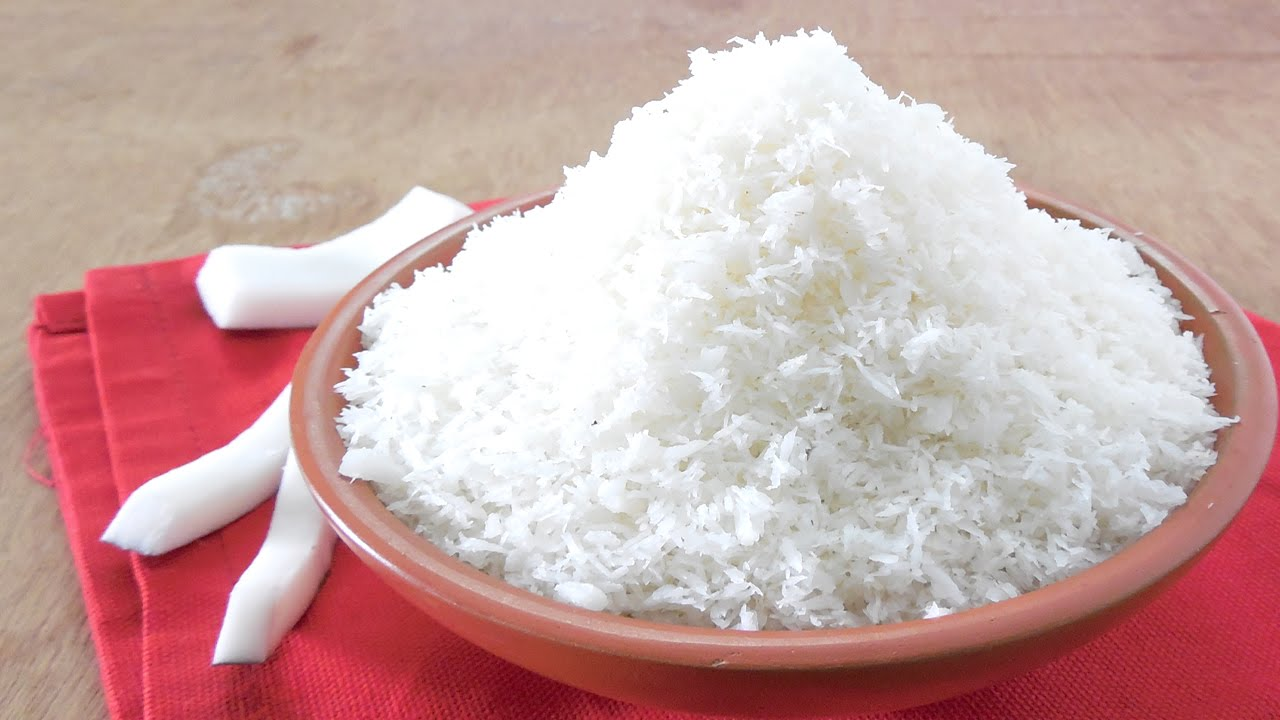 How to make Desiccated Coconut - YouTube
