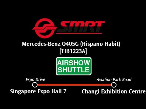 SMRT Mercedes-Benz O405G [TIB1223A] Airshow Shuttle: Expo Hall 7 → Changi Exhibition Ctr