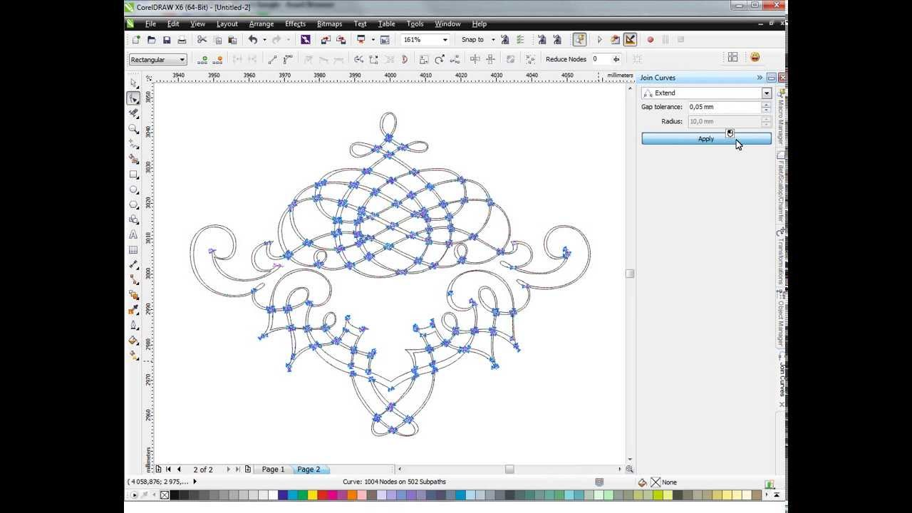 Как нарисовать монограмму в кореле