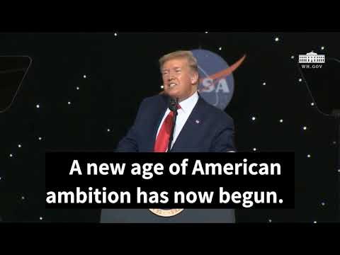 President Trump delivers speech at Kennedy Space Center after SpaceX launch English Subtitle