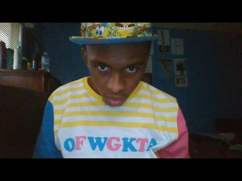 OFWGKTA clothing unboxing PacSun Yellow Striped T-Shirt