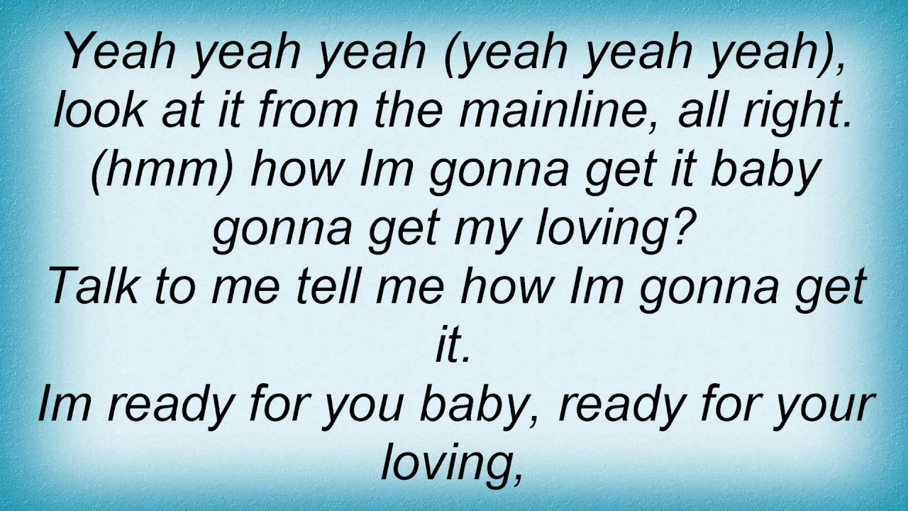 I M Ready For Your Love Lyrics