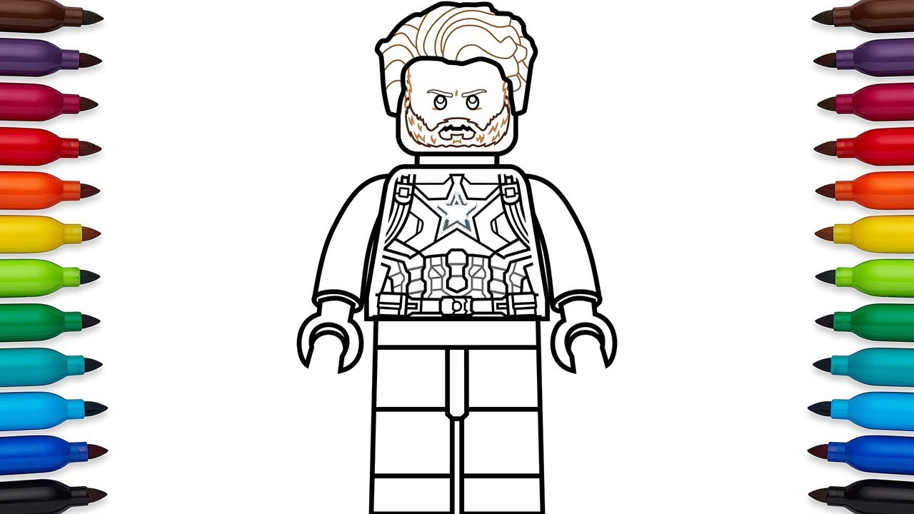 How To Draw Lego Captain America (Steve Rogers) From Marvel's Avengers: Infinity War