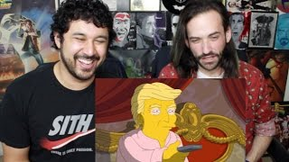 THE SIMPSONS Donald Trump's First 100 Days In Office REACTION & DISCUSSION!