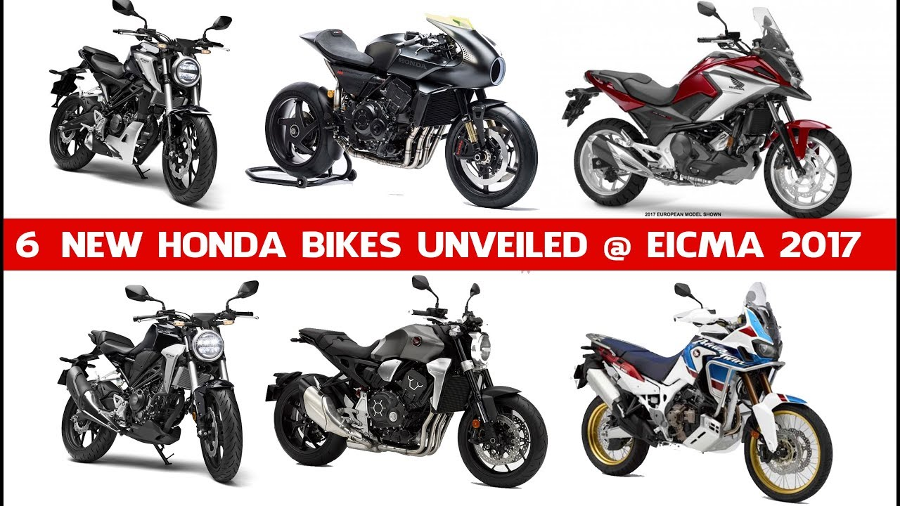 All New 2018 Honda Bikes Debuts In Eicma 2017 New Honda Bikes