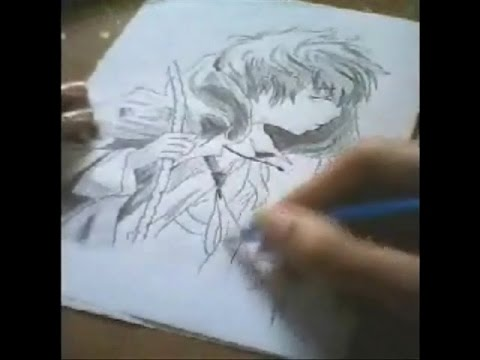 Speed drawing anime sad boy nsd