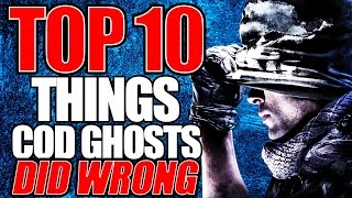 "Top 10 ""THINGS GHOSTS DID WRONG"" Call of Duty (Top 10 - Top Ten) Call of Duty"