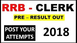 IBPS RRB OFFICE ASSISTANT PRE - RESULT OUT || अपने Attempt जरूर comment करे