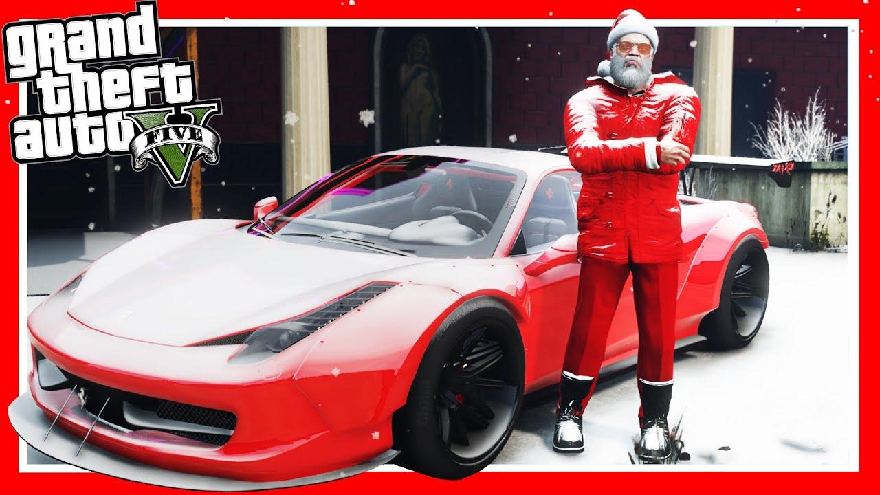 Gta 5 santa claus 39 s christmas drift montage ferrari for Ferrari christmas