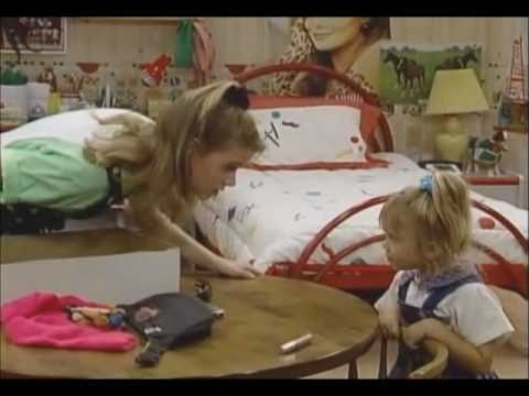 Full House Clips - Michelle repeats everything Stephanie says (shadow game)