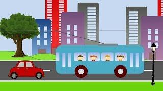 Мультик про транспорт. Мультик про троллейбус. Стихи для детей